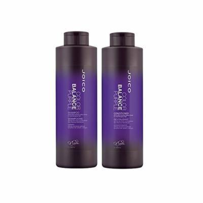 Joico Color Balance Purple Shampoo and Conditioner 33.8 Oz