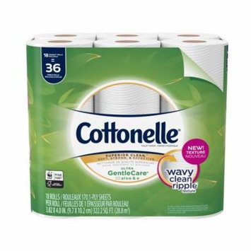 Cottonelle Ultra GentleCare 18 Double Rolls, Toilet Paper, Sensitive