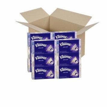 Kleenex Ultra Soft & Strong Facial Tissues; 70 Tissues per Flat Box; 12 Pack