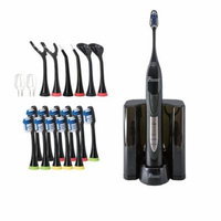 Pursonic Black Rechargeable Electric Toothbrush with Bonus Value Pack