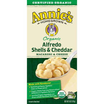 Annie's Organic Alfredo Shells and Cheddar Mac and Cheese, 6 oz