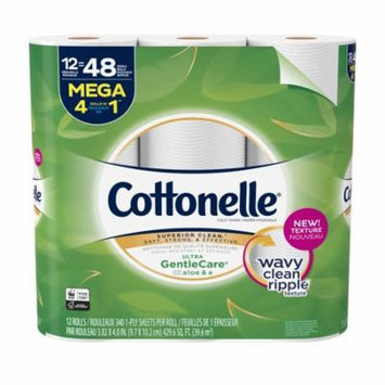 Cottonelle Ultra Gentle Care, 12 Mega Rolls, Toilet Paper