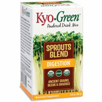 Kyo-Green Sprouts Blend Digestion Drink Mix Kyolic 2.8 oz Powder