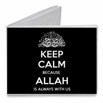 Keep Calm Because Allah Is Always With Us - Paper Tyvek Wallet
