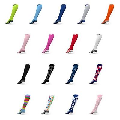Go2Socks GO2 Compression Socks for Men Women Nurses Runners 20-30 mmHg (high) - Medical Stocking Maternity Travel - Best Performance Recovery Circulation Stamina