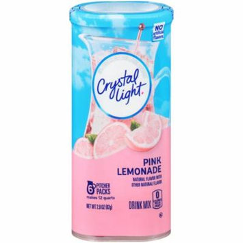 Crystal Light Pink Lemonade Drink Mix, 6 Pitcher Packets (Pack of 12)