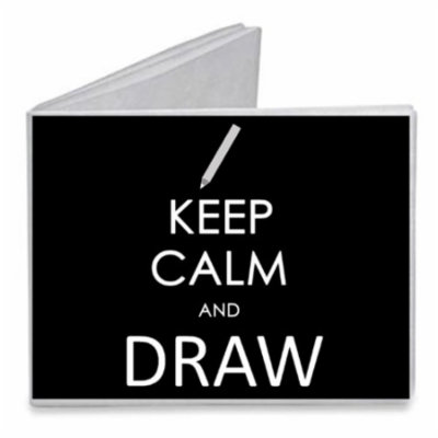 Keep Calm and Draw Pencil - Paper Tyvek Wallet