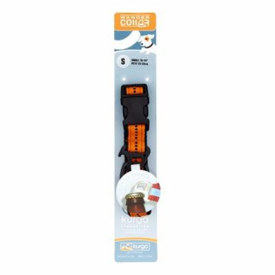 Kurgo Wander Dog Collar, Small, Black & Orange