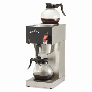 Original Gourmet Food CPDC128AF 9 x 160.5 x 19 Two-Burner Institutional Coffee Maker 12 Cup Stainless Steel