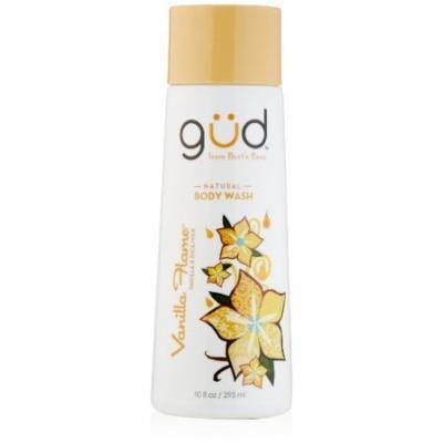 Gud Natural Vanilla Flame Body Wash, 10 fl.oz (Pack of 3)