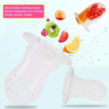 Baby Feeder Toys,6PCS Silicone Baby Feeding Nipple Fruit Pacifier Feeder Soother Holder For baby(M)