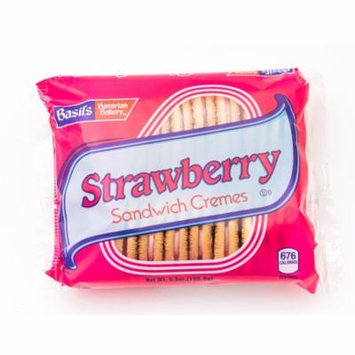 Basils Strawberry Sandwich Cremes Cookie,5.5 oz, 24 Ct