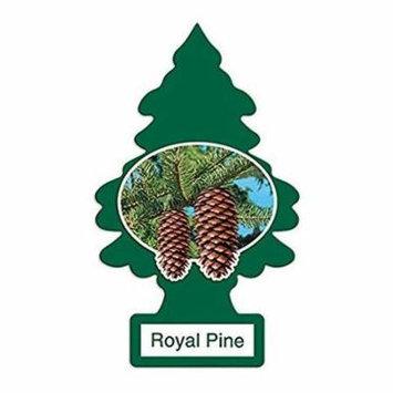 Magic Tree Little Trees Car Home Air Freshener Freshner Smell Fragrance Aroma Scent - ROYAL PINE (24 Pack)