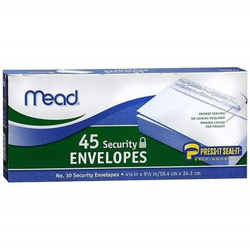 Mead Security Envelopes 45.0 ea.(pack of 3)