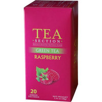 Tea Section Raspberry Green Tea Bags, 20 count, 1.41 oz