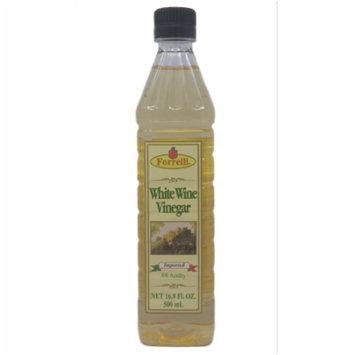 Forrelli White Wine Vinegar, 16.9 fl. oz., Plastic Bottle (12 Pack)