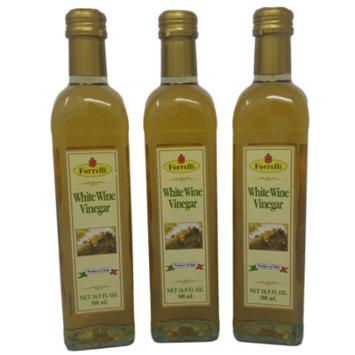 Forrelli Italian White Wine Vinegar of Modena, 16.9 fl. oz., Marasca bottle (12 Pack) (3 Pack)