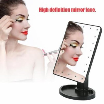 Cosmetic Mirror,22 LED Lights Vanity Makeup Mirror 10X Magnification Rotatable Tabletop Cosmetic Mirror With Touch Screen Lighted