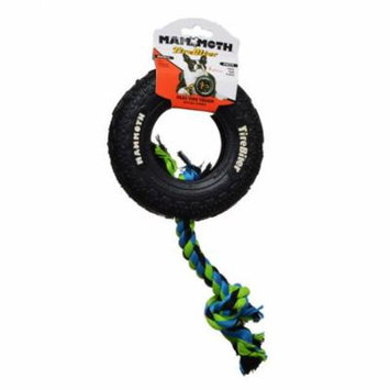 Mammoth Tire Biter Dog Chew Toy w/ Colored Flossy Rope Small - 6