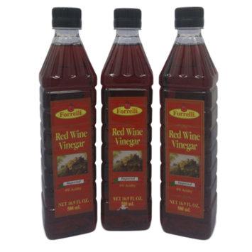 Forrelli Red Wine Vinegar, 16.9 fl. oz., Plastic Bottle (3 Pack)