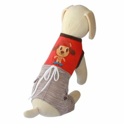 UP Collection Fun Doggie Tank Top with Integrated Dog Shorts