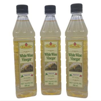 Forrelli White Wine Vinegar, 16.9 fl. oz., Plastic Bottle (3 Pack)