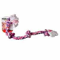 Flossy Chews Colored 4 Knot Tug Rope Large (22