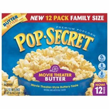 Pop Secret Microwave Popcorn, Movie Theater Butter, 3.2 Oz, 12 Ct
