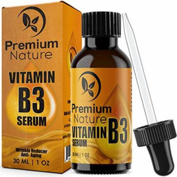Vitamin B3 Facial Serum Moisturizing Face Cream Pore Tightener Wrinkle Reducer & Collagen Booster Antiaging for Dark Spots Breakouts Acne Fine Lines Age Spots 2.0 Limited Edition Premium Nature 1 Oz