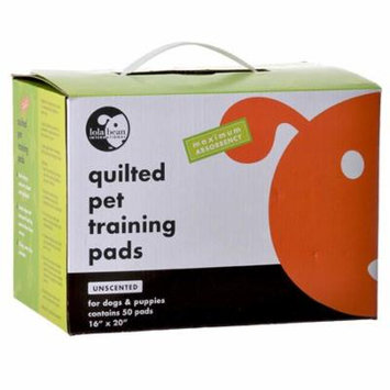 Lola Bean Quilted Pet Training Pads 20 Long x 16 Wide (50 Pack) - Pack of 6
