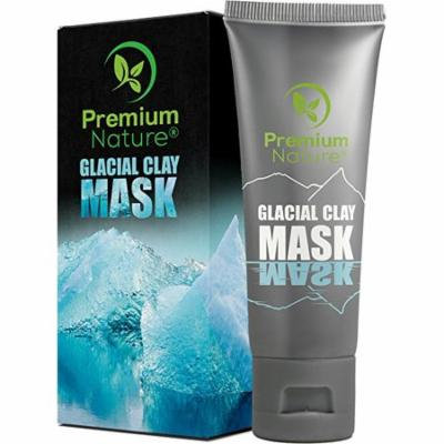 Glacial Clay Face Mask Natural - Detox & Brighten Deep Pore Eliminator Spots, Blackheads & Acne 2.0 Limited Edition Premium Nature 4 Oz