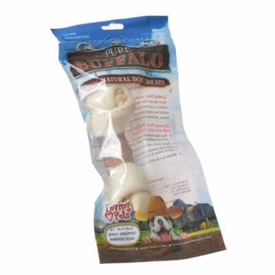 Loving Pets Pure Buffalo Jerky Wrapped Rawhide Bones Large - 1 Pack - (6-7 Bone) - Pack of 2