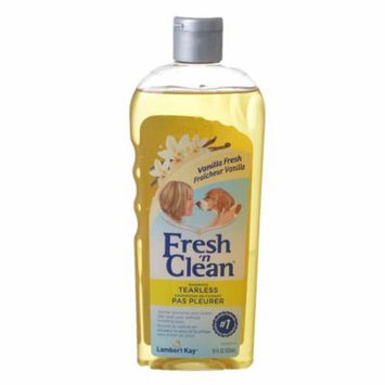 Fresh 'n Clean Tearless Puppy Shampoo - Light Vanilla Scent 18 oz - Pack of 6