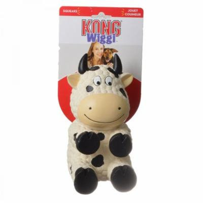 Kong Wiggi Cow Dog Toy Large - 1 Pack - Pack of 10