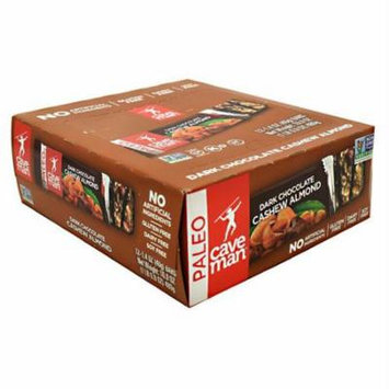 Caveman Foods Paleo-Friendly Nutrition Bar, Dark Chocolate Cashew Almond, 12 Count