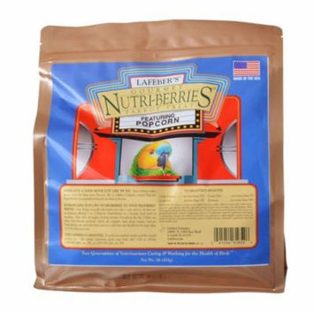 Lafeber Gourmet Nutri-Berries with Popcorn for Parrots 1 lb - Pack of 10