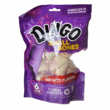 Dingo Meat in the Middle Rawhide Chew Bones Small - 4