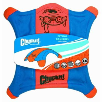 Chuckit Flying Squirrel Toss Toy Large - 11 Long x 11 Wide - Pack of 12