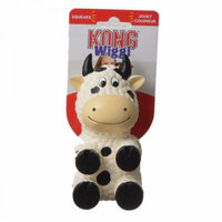Kong Wiggi Cow Dog Toy Small - 1 Pack - Pack of 10