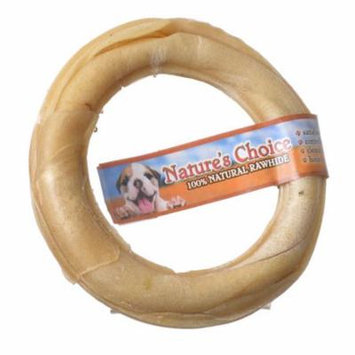 Loving Pets Nature's Choice Pressed Rawhide Donut Large - (6 Diameter) - Pack of 6