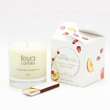 Feya Candle 6.5oz Cranberry Apple Marmalade Soy Candle