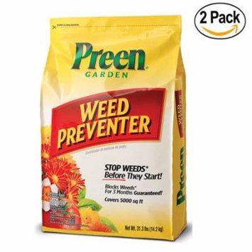 Preen Garden Weed Preventer 31.1 lb bag, 2 Pack Covers 10,000 sq ft