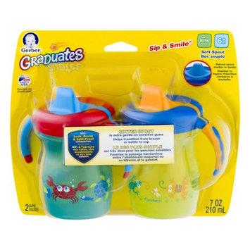 Nuk Usa, Llc Gerber Graduates 14227 Sip & Smile Sea Creatures Soft Spout Cup, 7-Ounces, 2-Pack, Boy Colors