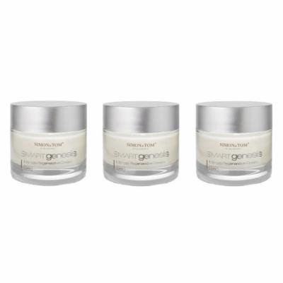 Simon & Tom Smart Genesis Ultimate Regenerative Cream - Advanced Anti Aging, Anti Wrinkle Day Cream with Apple Stem Cells Complex 50 ml/1.67 fl.oz (Pack of 3)
