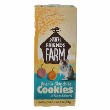 Tiny Friends Farm Charlie Chinchilla Cookies with Raisin & Carrot 4.2 oz - Pack of 4