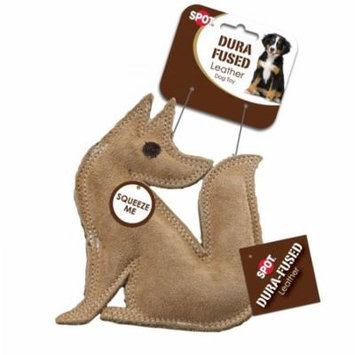 Spot Dura-Fused Leather Fox Dog Toy 7 Long x 7.25 High - Pack of 4