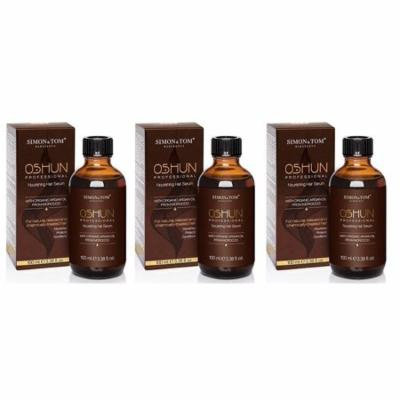 Simon & Tom OSHUN Professional Hair Serum - Nourishing Hair Repair Treatment 100 ml / 3.38 fl.oz (Pack of 3)