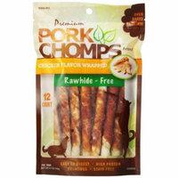 Pork Chomps Premium Pork Twistz - Chicken Mini - 12 Count - Pack of 10