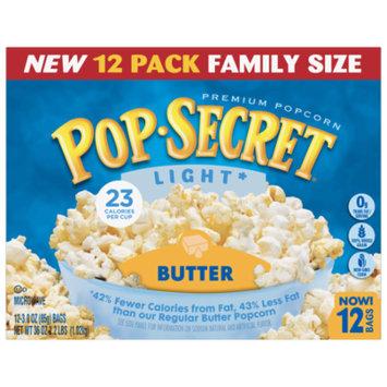 Pop Secret Popcorn, Light Butter, Microwave Bags, 3 Oz, 12 Ct