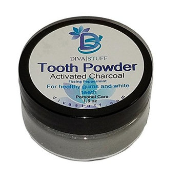 Superior Tooth Powder For Whiter and Healthier Teeth and Gums, With Activated Charcoal, By Diva Stuff